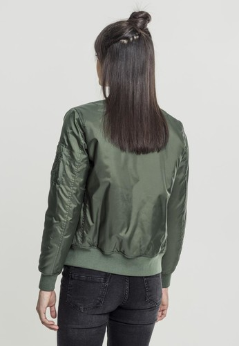 Куртка URBAN CLASSICS Ladies Basic Bomber Jacket Olive фото 4
