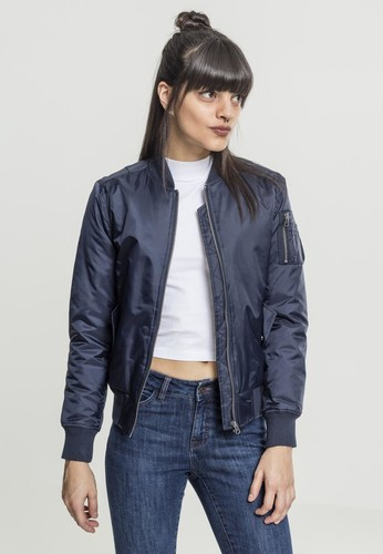 Куртка URBAN CLASSICS Ladies Basic Bomber Jacket Navy фото 5