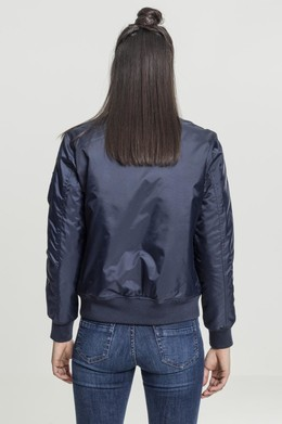 Куртка URBAN CLASSICS Ladies Basic Bomber Jacket Navy фото 2