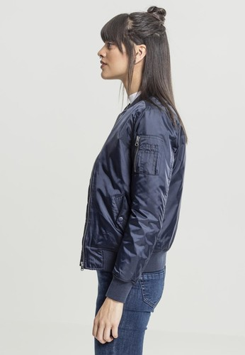 Куртка URBAN CLASSICS Ladies Basic Bomber Jacket Navy фото 7