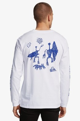 Мужской лонгслив QUIKSILVER Originals WHITE (wbb0) фото 2