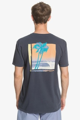 Мужская футболка QUIKSILVER Lazy Sun BLUE NIGHTS (bst0) фото 2