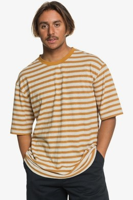 Мужская футболка QUIKSILVER Originals Модель EQYKT03989 THAI CURRY LINEN STRIPE (cpy3) фото