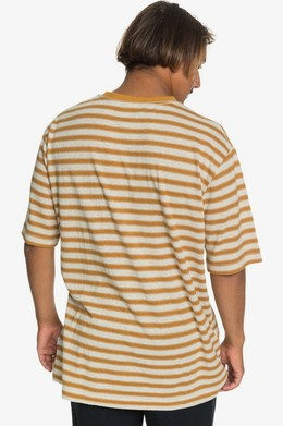 Мужская футболка QUIKSILVER Originals Модель EQYKT03989 THAI CURRY LINEN STRIPE (cpy3) фото 2