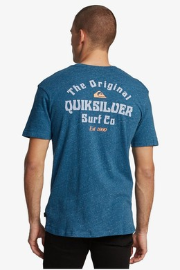 Мужская футболка QUIKSILVER Energy Project MAJOLICA BLUE HEATHER (bsmh) фото 2