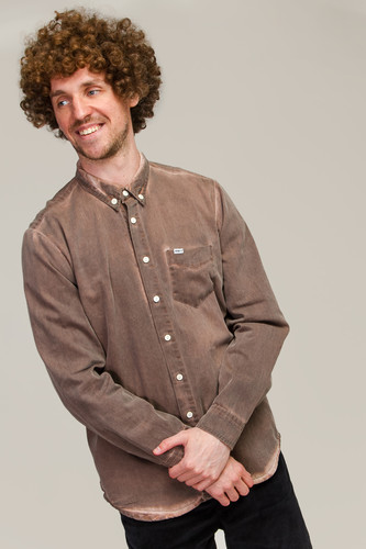 Рубашка МЕЧ SS20 SH Chocolat Dyed (Коричневый, L)