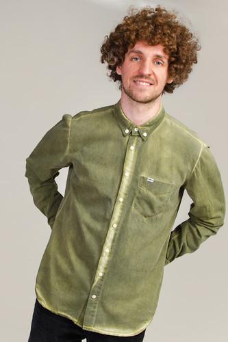 Рубашка МЕЧ SS20 SH Khaki Dyed (Хаки, L)