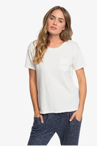 Женская футболка с карманом ROXY Star Solar (Snow White (wbk0), XS)