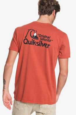 Футболка QUIKSILVER Bouncing Heart BURNT BRICK (mpm0) фото 2