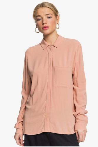Женская рубашка с длинным рукавом ROXY Mess Is Mine ERJWT03424 (CAFE CREME (tjb0), S) цена 2017