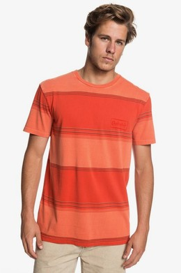Футболка QUIKSILVER Gradient Stripe ORANGE RUST GRADIENT STRIPES (nnc3) фото