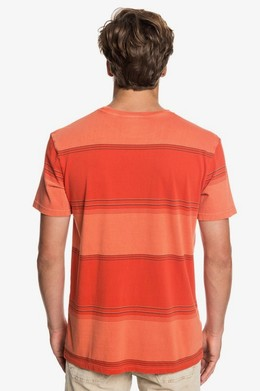 Футболка QUIKSILVER Gradient Stripe ORANGE RUST GRADIENT STRIPES (nnc3) фото 2
