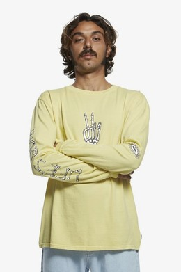Лонгслив QUIKSILVER Originals Lifes Quik YELLOW IRIS (yzj0) фото