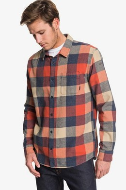 Рубашка с длинным рукавом QUIKSILVER Motherfly Flannel BURNT BRICK MOTHERFLY (mpm1) фото