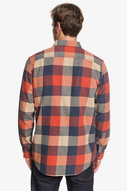 Рубашка с длинным рукавом QUIKSILVER Motherfly Flannel BURNT BRICK MOTHERFLY (mpm1) фото 2