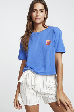 Футболка женская Billabong Party Waves Ss Tee Saphire Blue фото