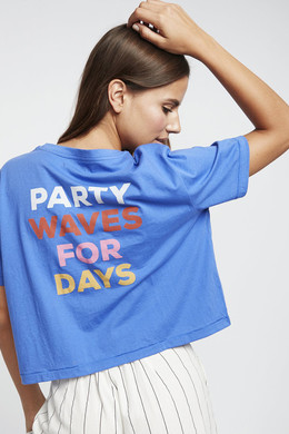 Футболка женская Billabong Party Waves Ss Tee Saphire Blue фото 2