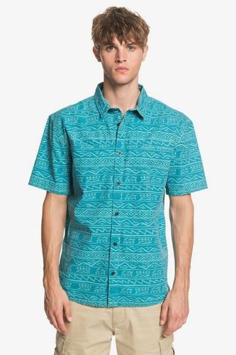 Мужская рубашка с коротким QUIKSILVER рукавом Heritage (PAGODA BLUE TONAL HERITAGE (bnp6), M) мужская шапка quiksilver m