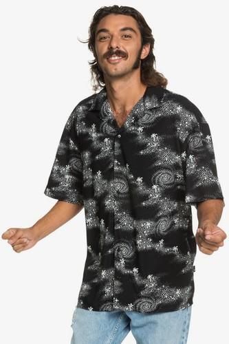 Мужская рубашка с коротким рукавом QUIKSILVER Originals Модель EQYWT03967 (BLACK COSMIC RIP (kvj6), L)
