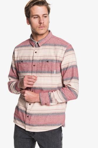 Рубашка с длинным рукавом QUIKSILVER Inca Gold Stripe (GARNET INCA STRIPE (rqk3), S)