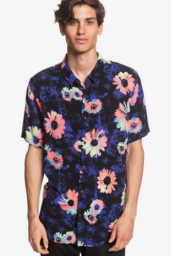 Мужская рубашка с коротким рукавом QUIKSILVER Daisy Spray (DAZZLING BLUE DAISY SPRAY (ppm6), M)