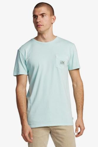 Мужская футболка с карманом QUIKSILVER Sub Mission (BEACH GLASS (gcz0), M)