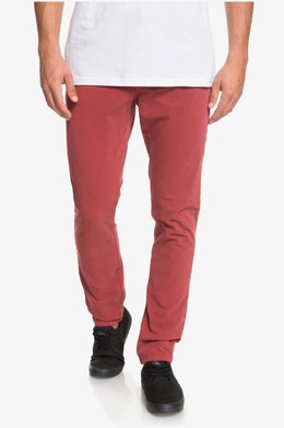 Узкие брюки-чинос QUIKSILVER Krandy Slim BRICK RED (rqn0) фото