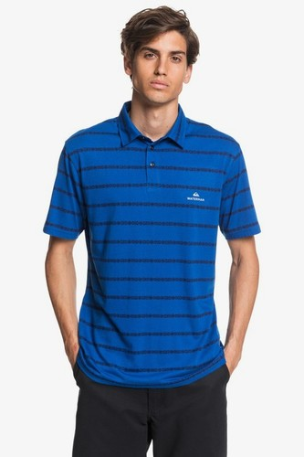 Мужская рубашка-поло QUIKSILVER Waterman Free Cast (CLASSIC BLUE REELBACK STRIPER (brl6), S)