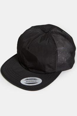 Бейсболка FLEXFIT Unstructured Trucker Cap Black фото 2