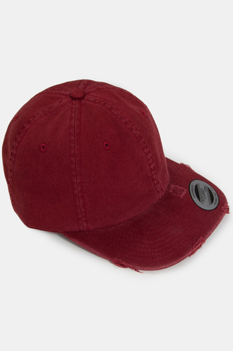 Бейсболка FLEXFIT Low Profile Destroyed Cap (Maroon, O/S) бейсболка famous tip off snap white black turq o s