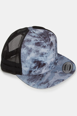 Бейсболка FLEXFIT Used Camo Trucker Dark Grey/Black Mesh фото