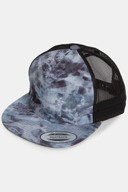 Бейсболка FLEXFIT Used Camo Trucker Dark Grey/Black Mesh фото 2