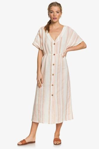 Женское платье на пуговицах ROXY Joyful Noise (IVORY CREAM NAM NAM STRIPES (tfm3), M)