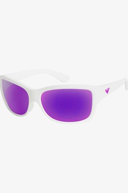 Солнцезащитные очки ROXY Athena SHINY WHITE/ ML PURPLE (xwwp) фото