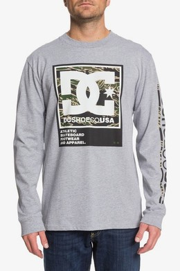 ЛОНГСЛИВ DC SHOES ARAKANA GREY HEATHER (knfh) фото