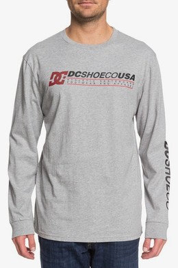 ЛОНГСЛИВ DC SHOES LONGER GREY HEATHER (knfh) фото