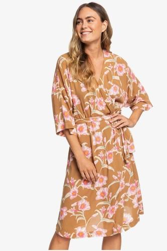 Платье-кимоно ROXY Privy Places (CHIPMUNK SURFIN LOVE (cmw6), S)