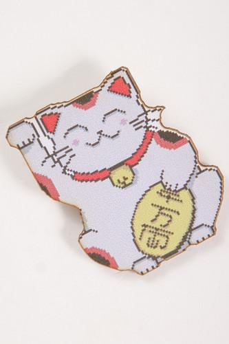 Значок КРЕПОСТЬ SOCKS Денежный котик (Белый)