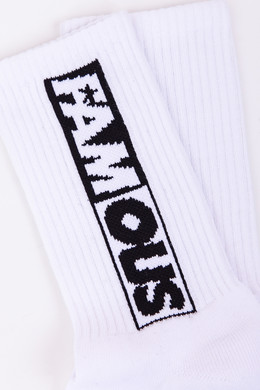 Носки FAMOUS Famous Lettering Socks Double Pack White фото 2