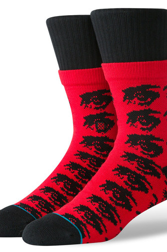 Носки STANCE THE WATCHER (BLACK/RED, L)