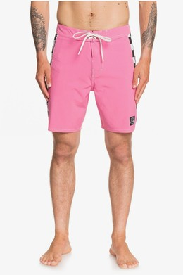 "Бордшорты QUIKSILVER Echo Beach Checker 18"" SHOCKING PINK (mjy0) фото"