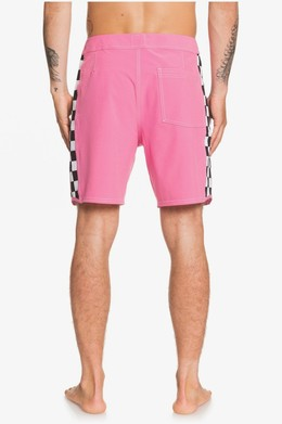 "Бордшорты QUIKSILVER Echo Beach Checker 18"" SHOCKING PINK (mjy0) фото 2"