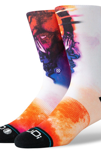 Носки STANCE ANTHEM CUDI MAN ON THE MOON (White, L)