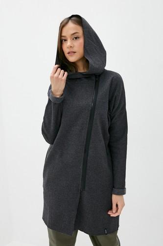 Пальто EMBLEM Street Coat с капюшоном (женское) (Antracit, S)