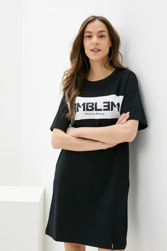 Платье-Футболка EMBLEM Black (Black, L)
