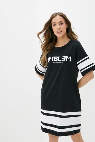 Платье-Футболка EMBLEM Lines (Black/White, S)