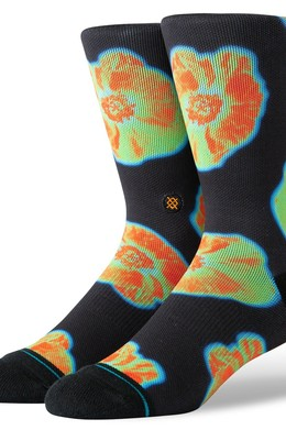 Носки STANCE SURFSKATE THERMAL FLORAL BLACK фото