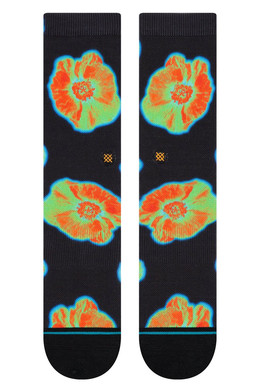 Носки STANCE SURFSKATE THERMAL FLORAL BLACK фото 2