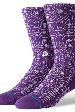 Носки STANCE FOUNDATION CONNECTOR PURPLE фото