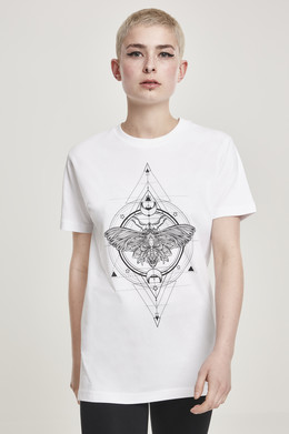 Футболка MISTER TEE Ladies Moth Tee (женская) White фото